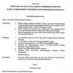 SK Insentif Karya Ilmiah Dosen UMSurabaya