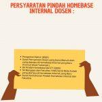Syarat Pindah Homebase Internal Dosen